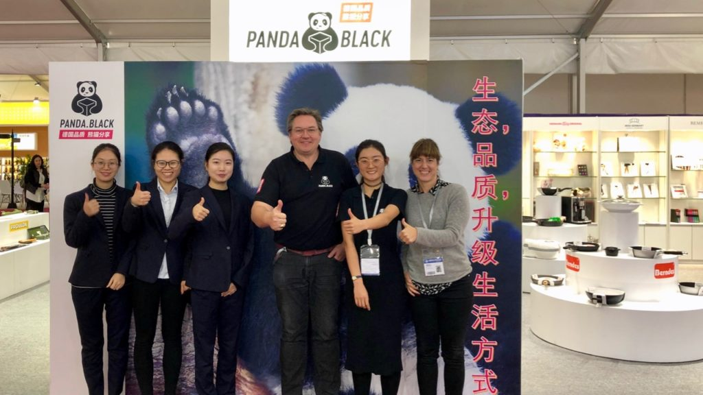 PANDA.BLACK with first booth at Import Fair in China